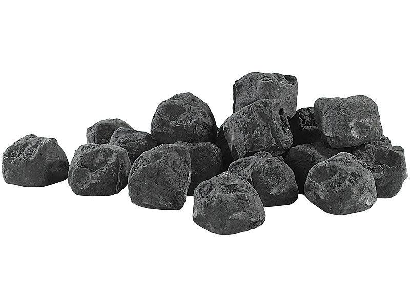 Carlo milano deko steine f r bio ethanol fen schwarz for Schwarze steine deko