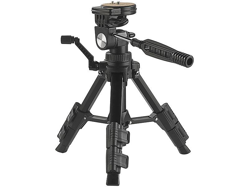 Somikon fotostativ: standfestes mini stativ mit flexiblem 3 wege