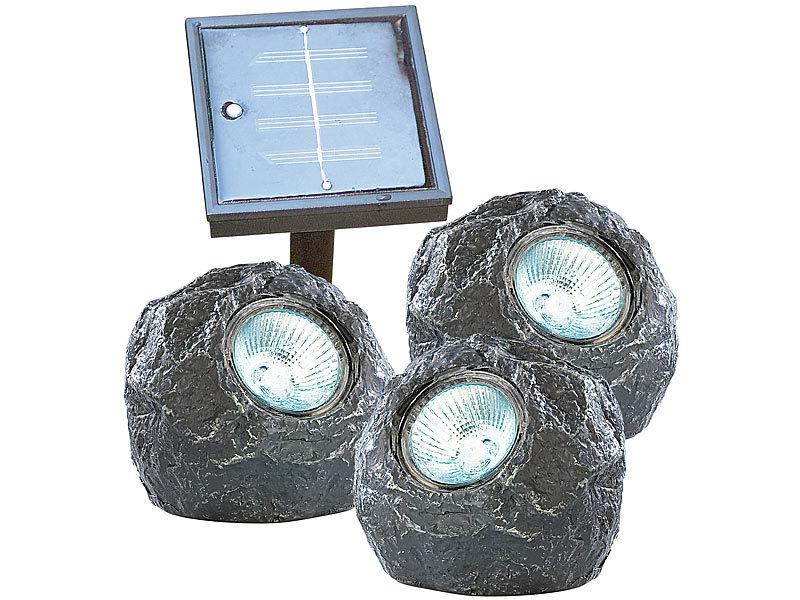 lunartec unterwasser leuchten u stones trio mit. Black Bedroom Furniture Sets. Home Design Ideas