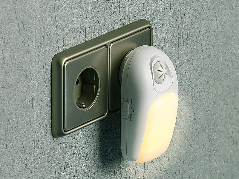 lunartec led nachtlicht mit klatschschalter akustik sensor. Black Bedroom Furniture Sets. Home Design Ideas