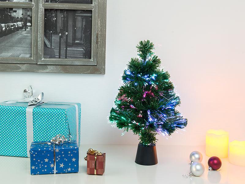 Kleiner Weihnachtsbaum Mit Beleuchtung.Lunartec Weihnachtsbaum Deko Tannenbaum Dreifarbige Led