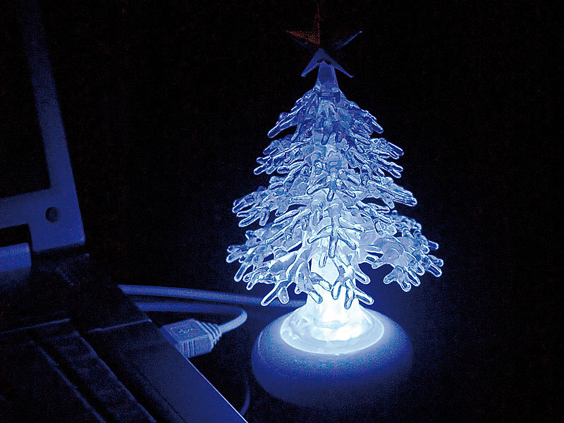 lunartec usb weihnachtsbaum crystal tree. Black Bedroom Furniture Sets. Home Design Ideas