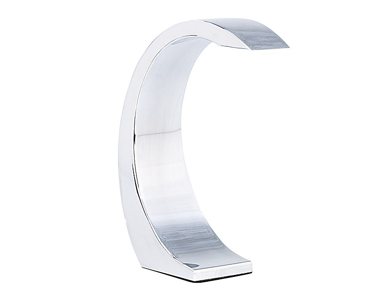 lunartec 5 watt led design tischlampe silver moon mit sensorschalter. Black Bedroom Furniture Sets. Home Design Ideas