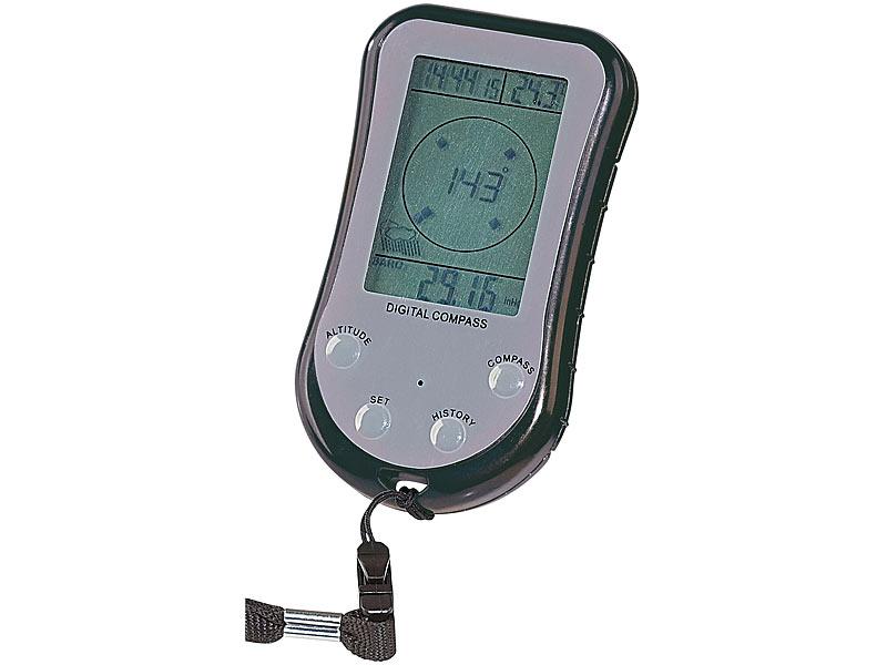 Semptec digitaler in kompass mit höhenmesser mobiler wetterstation