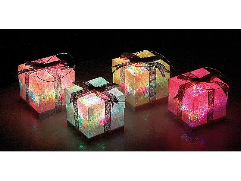 lunartec led weihnachts geschenk schmuck 4er set. Black Bedroom Furniture Sets. Home Design Ideas