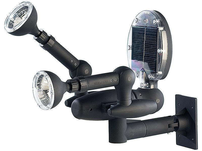 solar led garten sicherheits spotlight mit 3in1 bewegungsmelder. Black Bedroom Furniture Sets. Home Design Ideas