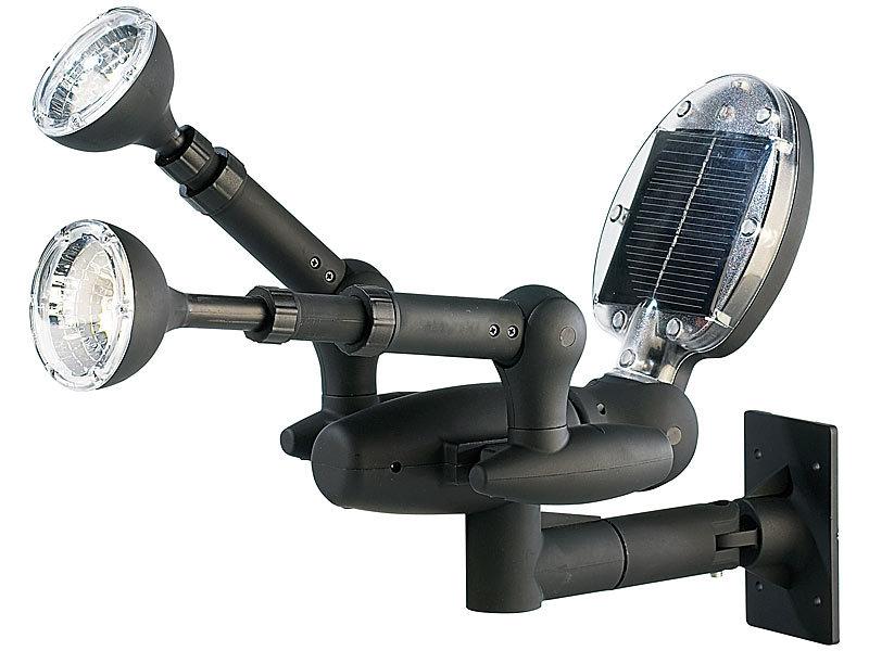 visortech solar led garten sicherheits spotlight mit. Black Bedroom Furniture Sets. Home Design Ideas
