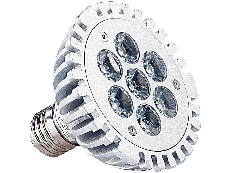 lunartec led strahler 21 watt 7 leds 39 warmwei 39 par30 e27 230 v. Black Bedroom Furniture Sets. Home Design Ideas