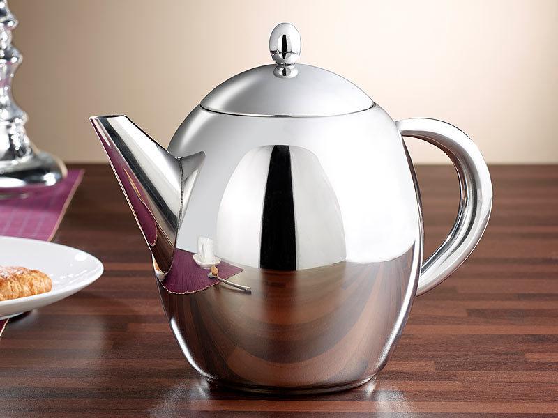 rosenstein s hne teekrug edelstahl teekanne mit siebeinsatz 1 75 liter sp lmaschinenfest. Black Bedroom Furniture Sets. Home Design Ideas