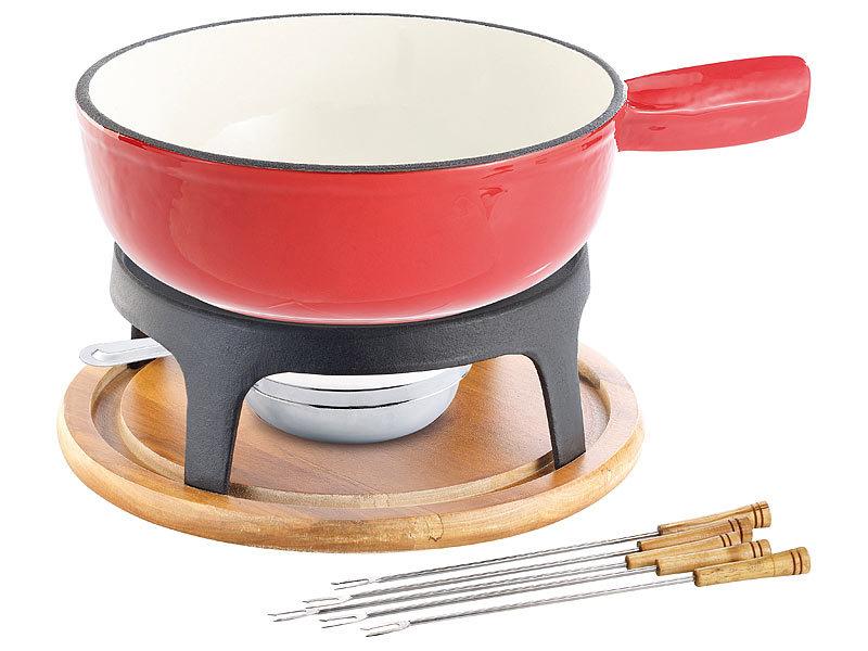 rosenstein s hne k sefonduetopf k sefondue set aus emailliertem gusseisen 24 cm fondue topf. Black Bedroom Furniture Sets. Home Design Ideas