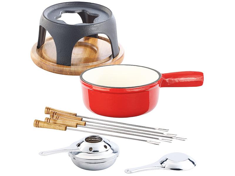 rosenstein s hne fondueset k sefondue set aus emailliertem gusseisen 16 cm fonduetopf. Black Bedroom Furniture Sets. Home Design Ideas