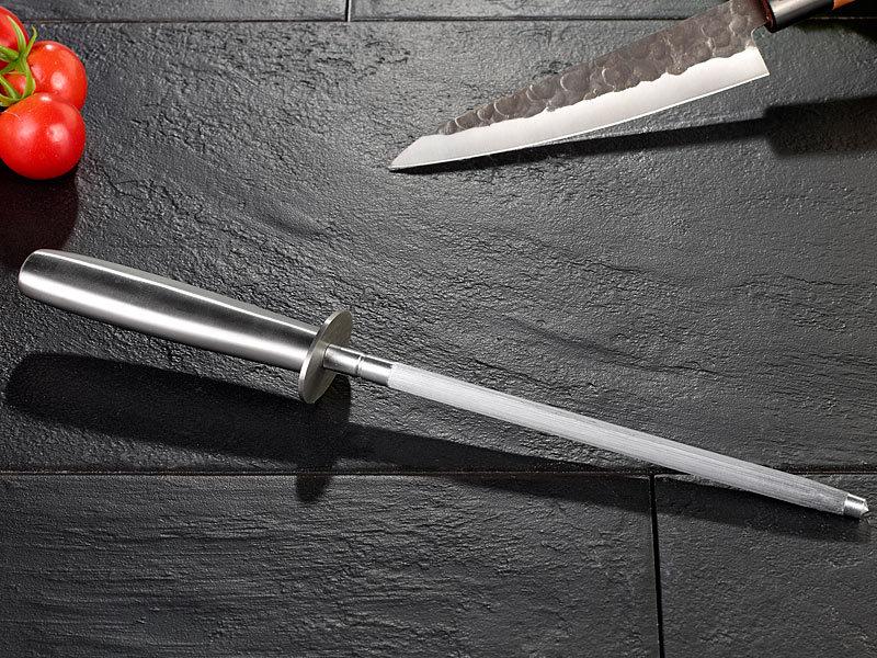 tokiokitchenware abziehstahl marken wetzstahl f r stahlmesser mit 20 cm schleifstab messer. Black Bedroom Furniture Sets. Home Design Ideas