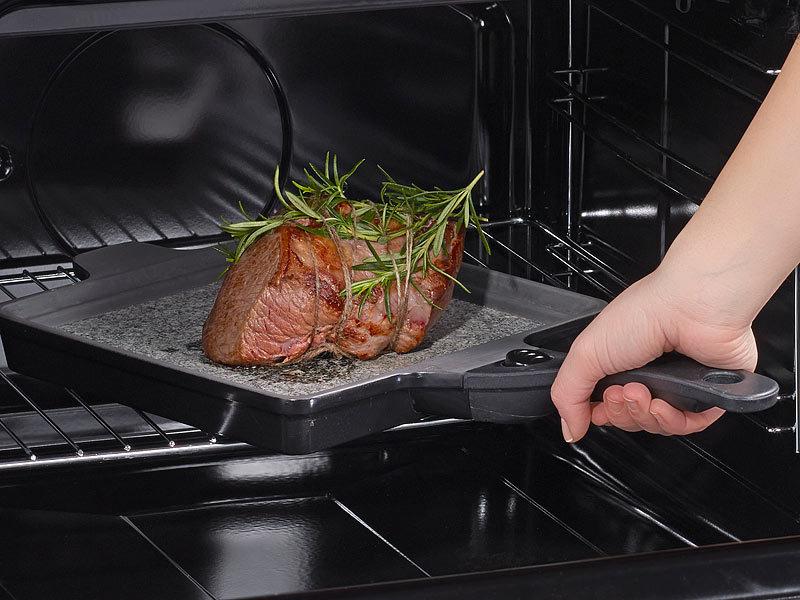 Grillpfanne Für Holzkohlegrill : Ts granitpfanne granit stein grillpfanne mit abn griff