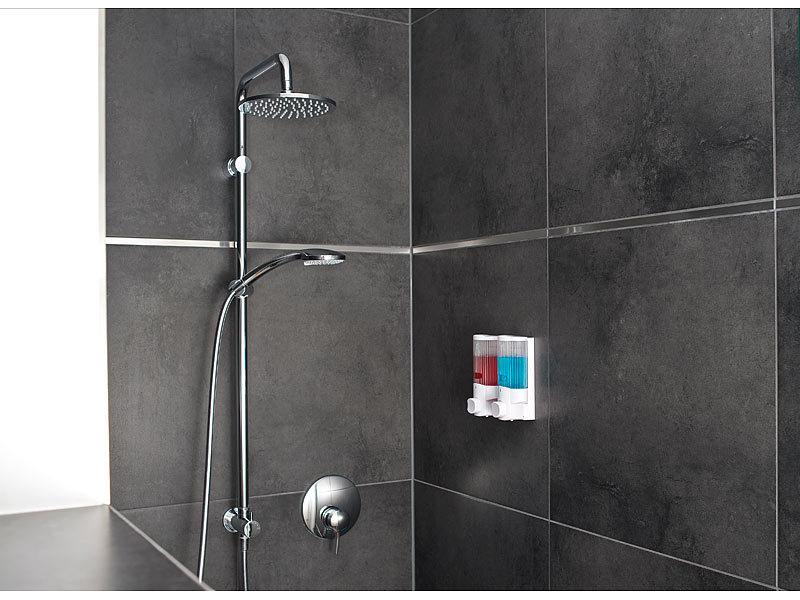 pearl wandseifenspender doppelter seifenspender zur wandmontage 2x 350 ml badezimmer. Black Bedroom Furniture Sets. Home Design Ideas