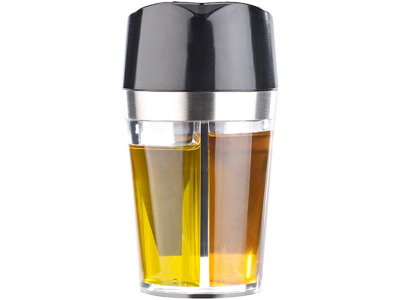 2 er Set Öl und Essig Design Spender Essigspender Ölspender Karaffe Dressing