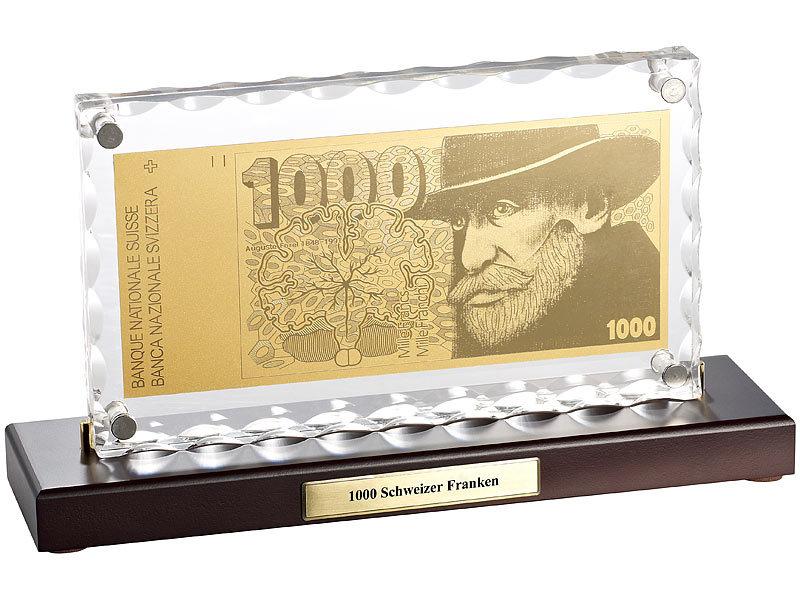 st leonhard geld schein gold vergoldete banknoten replik 1000 schweizer franken euro schein. Black Bedroom Furniture Sets. Home Design Ideas