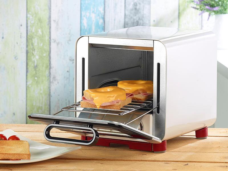 rosenstein s hne kompakter klein backofen f r belegten toast u v m watt 8 l. Black Bedroom Furniture Sets. Home Design Ideas