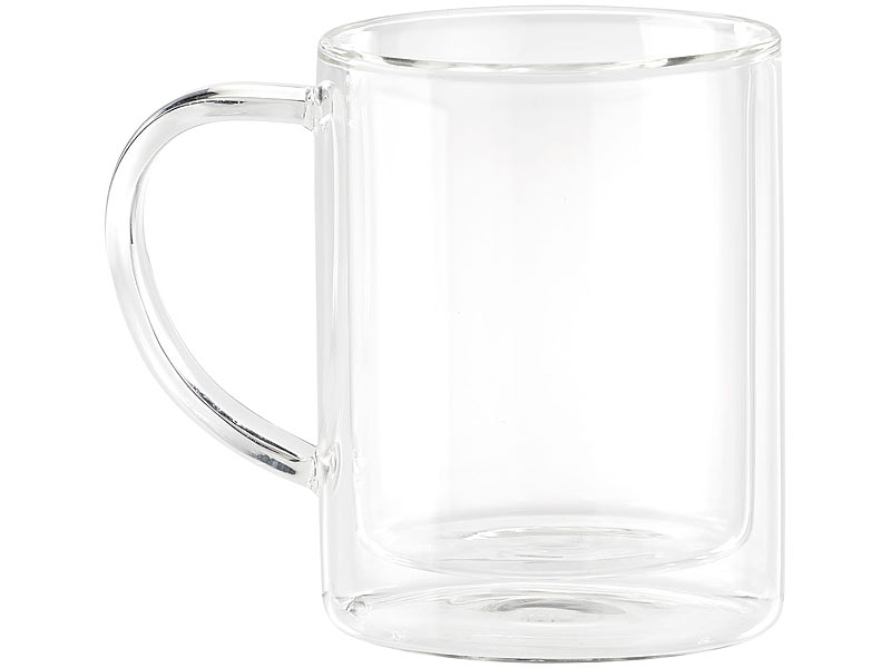 Teetassen Glas cucina di modena teetassen doppelwandige teegläser im 4er set je