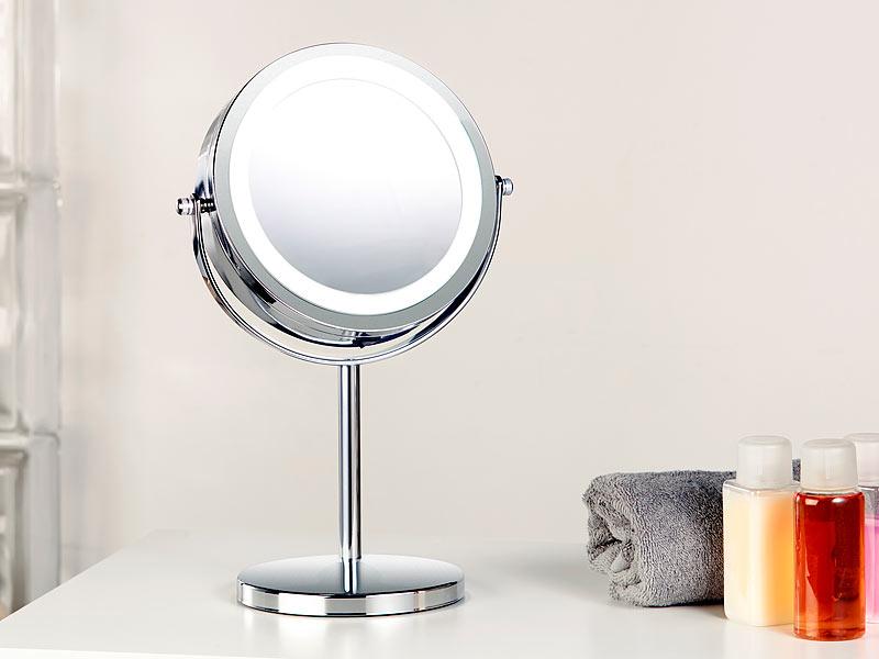 sichler beauty led spiegel stand kosmetikspiegel mit 18. Black Bedroom Furniture Sets. Home Design Ideas