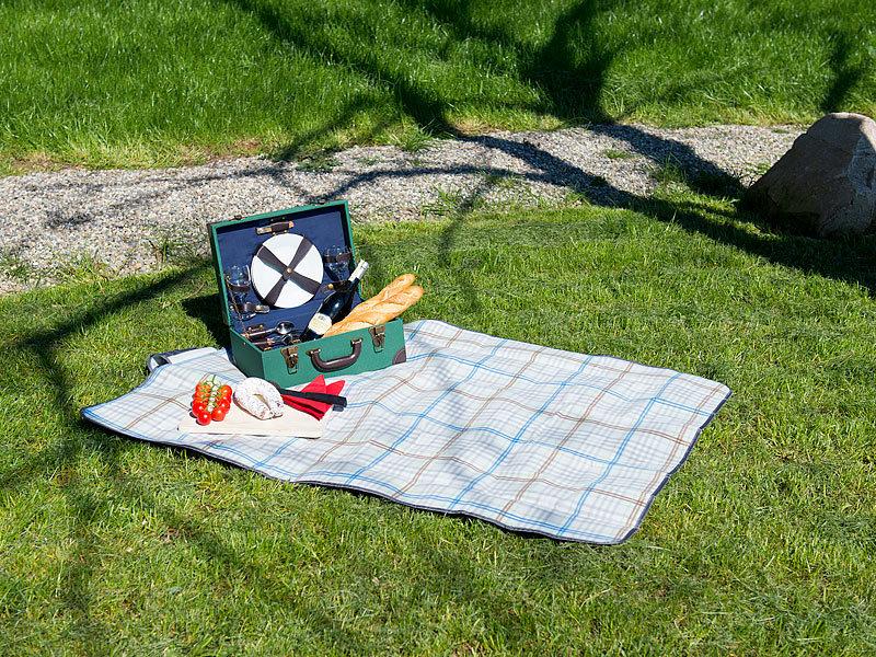 pearl fleece picknick decke mit wasserabweisender unterseite 140 x 100 cm. Black Bedroom Furniture Sets. Home Design Ideas