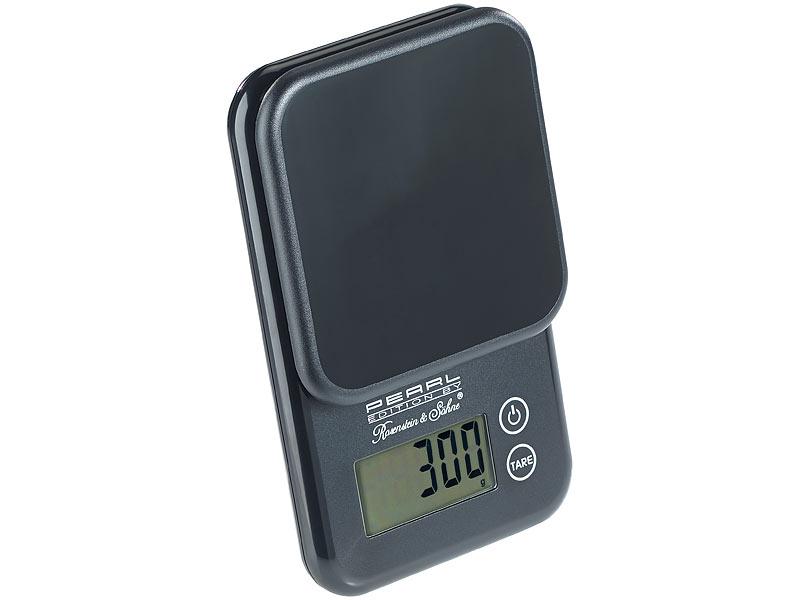 PEARL Küchenwaage: Kompakte Digitalwaage mit Touchbedienung für ...