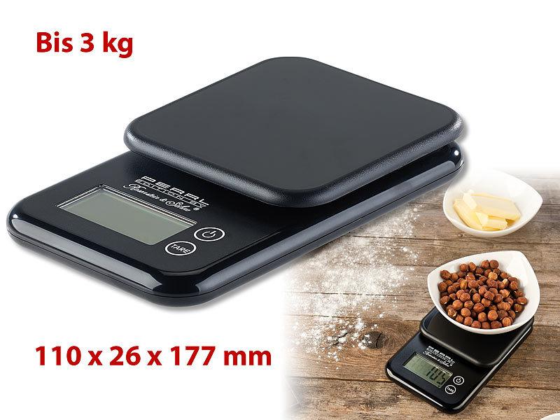 PEARL Kompakte Digitalwaage mit Touchbe nung für Küche