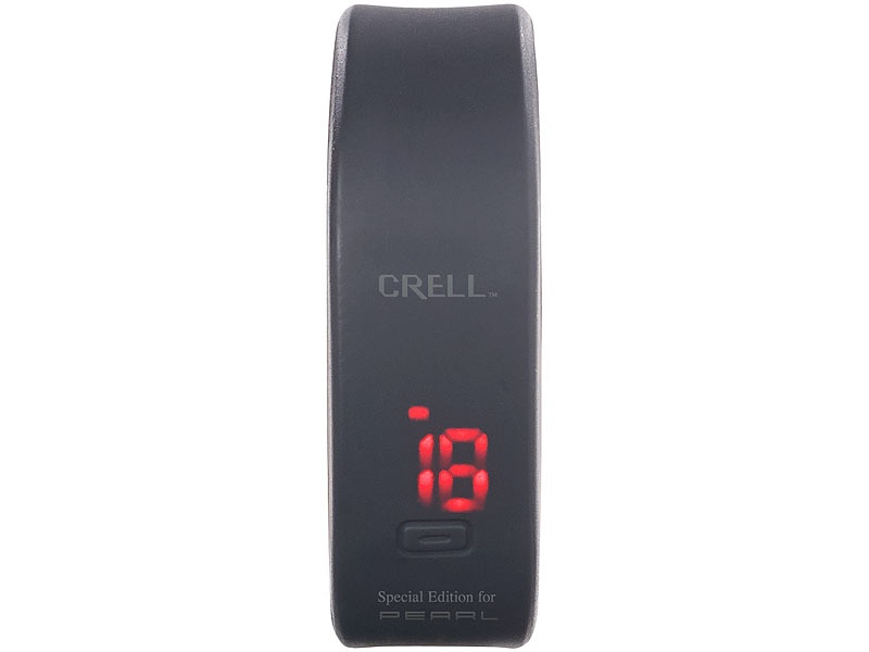 crell digitale sport uhr mit led display und silikon armband. Black Bedroom Furniture Sets. Home Design Ideas
