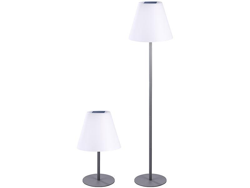 lunartec kabellose solar led tisch stehleuchte 1 6 w 50 lm ip44. Black Bedroom Furniture Sets. Home Design Ideas