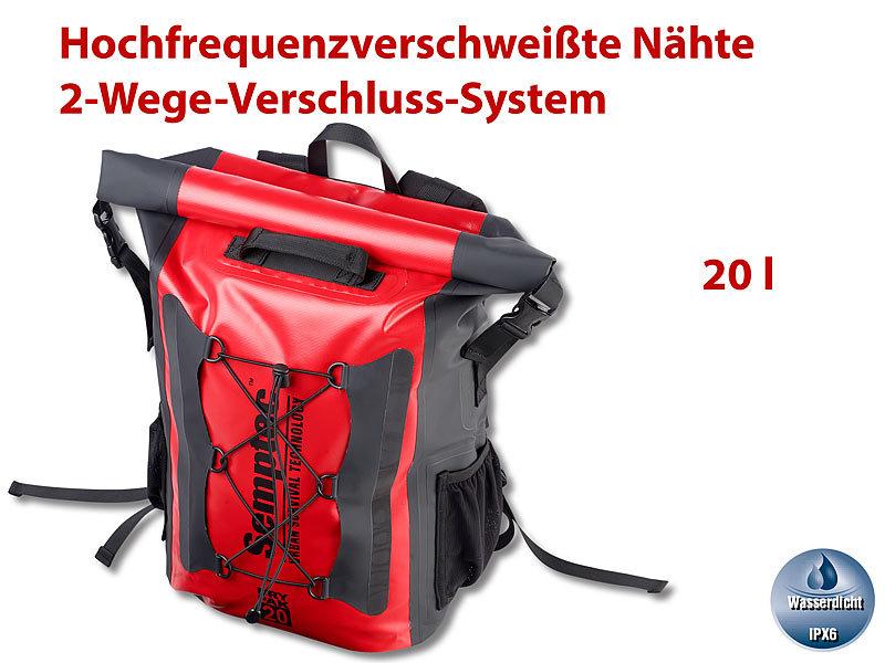 f0caf8f106ff9 Semptec Urban Survival Technology Wasserdichter Trekking-Rucksack aus LKW- Plane