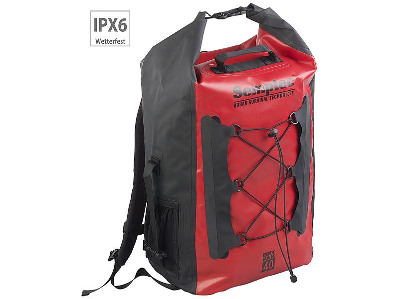 e3941e98dc Semptec Dry Bag  Wasserdichter Trekking-Rucksack aus LKW-Plane