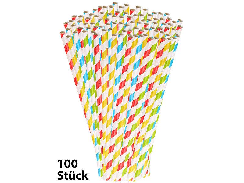 Kochen & Genießen Trinkhalm Aus Papier 100 Stück Rot Weiß Strohhalme Papierstrohhalme Nachhaltig