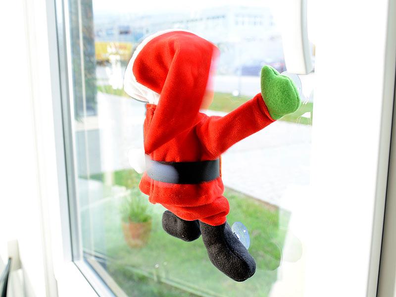 infactory deko weihnachtsm nner singender tanzender weihnachtsmann mit saugn pfen ger usch. Black Bedroom Furniture Sets. Home Design Ideas