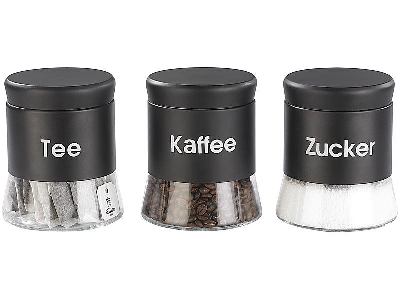 cucina di modena vorratsdosen set f r tee kaffee zucker 3 stk. Black Bedroom Furniture Sets. Home Design Ideas