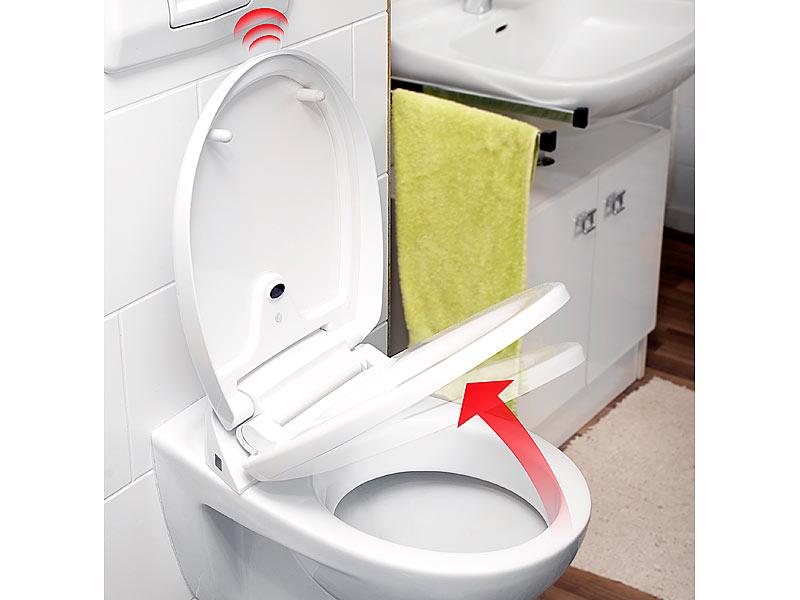 infactory wc deckel automatischer wc sitz mit bewegungssensor soft absenken automatischer. Black Bedroom Furniture Sets. Home Design Ideas