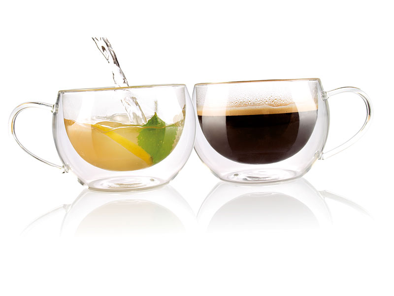 cucina di modena doppelwandiges kaffee tee glas 2er set. Black Bedroom Furniture Sets. Home Design Ideas