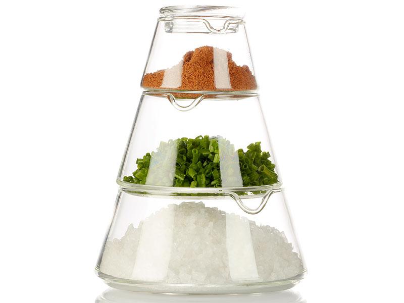 Cucina di modena 4 teiliges deko glas zur aufbewahrung for Deko aus glas