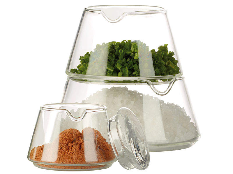 Cucina di Modena 4-teiliges Deko-Glas zur Aufbewahrung