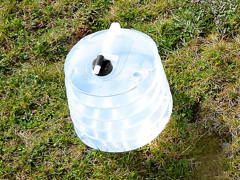 semptec faltbarer kanister faltbarer wasserkanister mit zapfhahn 5 liter rund f r. Black Bedroom Furniture Sets. Home Design Ideas