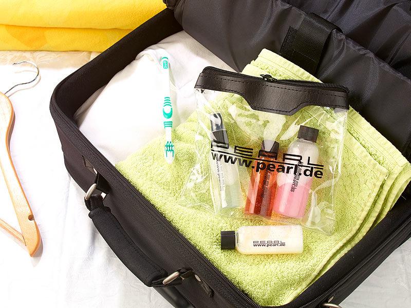 pearl reiseflaschen reise rei verschluss tasche mit 4. Black Bedroom Furniture Sets. Home Design Ideas