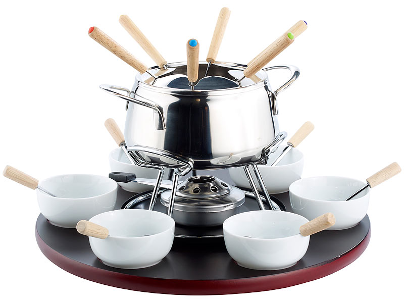 rosenstein s hne fonduekarussell 22 teilig fondue set. Black Bedroom Furniture Sets. Home Design Ideas