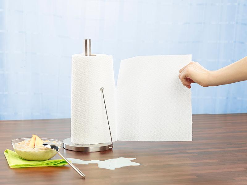 pearl küchenrollen-halter aus edelstahl mit praktischem abroll-stopp - Halter Für Küchenrolle