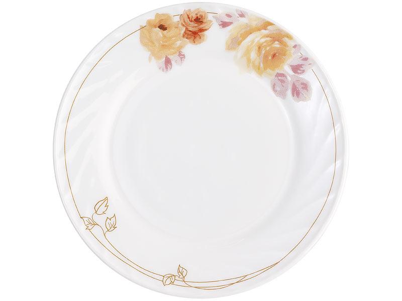 rosenstein s hne geschirr set opalglas tafelservice mit blumenmuster 19 teilig speiseservice. Black Bedroom Furniture Sets. Home Design Ideas