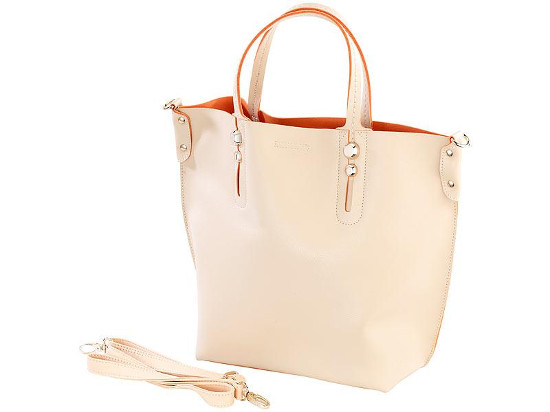 f443b6b4c582b Handtaschen  Carlo Milano Damenhandtasche mit herausnehmbarer Innentasche