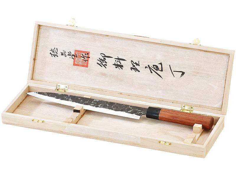 TokioKitchenWare Filiermesser mit Echtholzgriff, handgeschmiedet