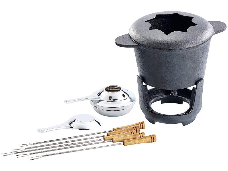 rosenstein s hne fondue set aus gusseisen f r 2 3 personen. Black Bedroom Furniture Sets. Home Design Ideas
