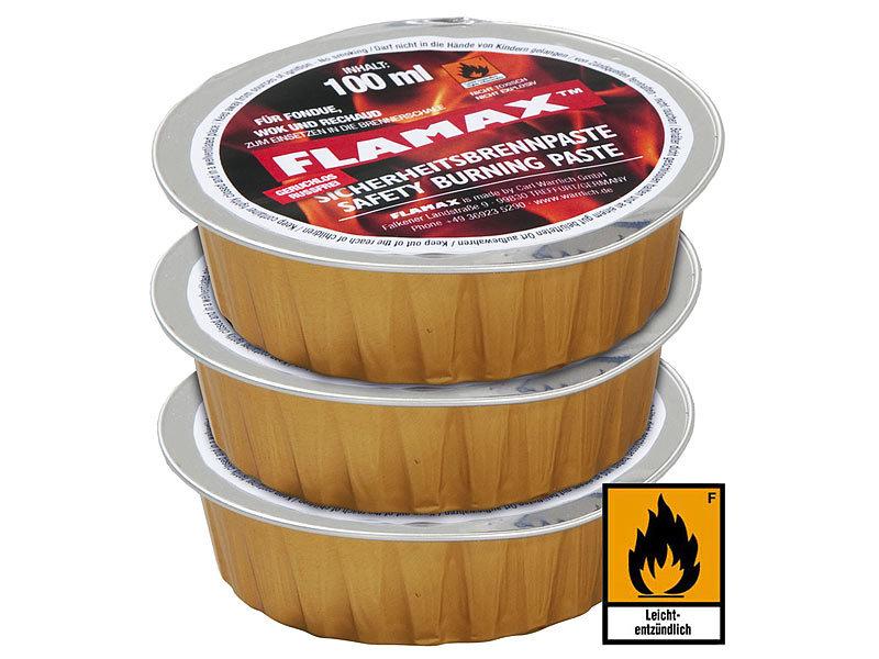 flamax pastenbrenner sicherheits brennpaste 3er set brenngel. Black Bedroom Furniture Sets. Home Design Ideas