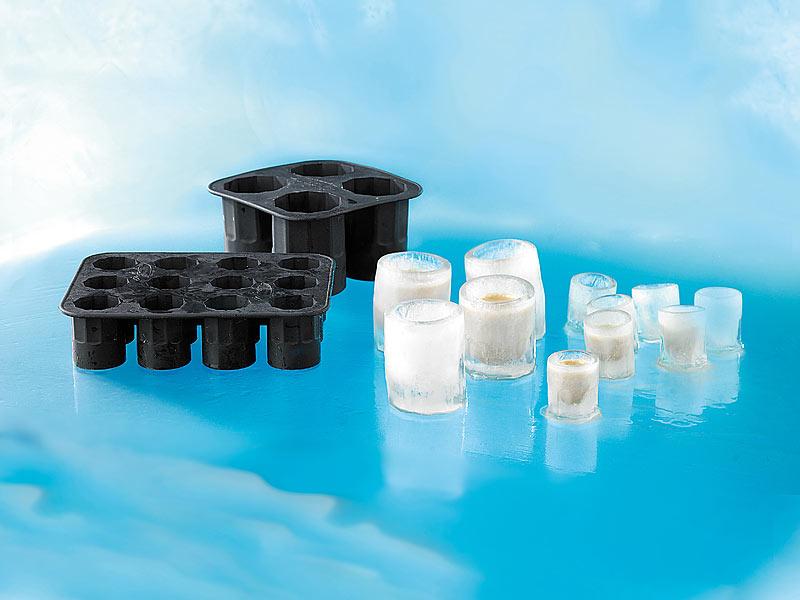 infactory eisgl ser selber machen silikon eisglasform 3er set f r 12 eis gl ser eis glas form. Black Bedroom Furniture Sets. Home Design Ideas