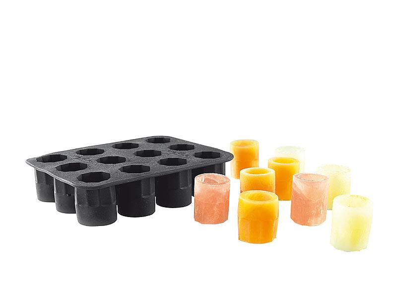 Silikon-Form für 12 Schnapsgläser aus Eis