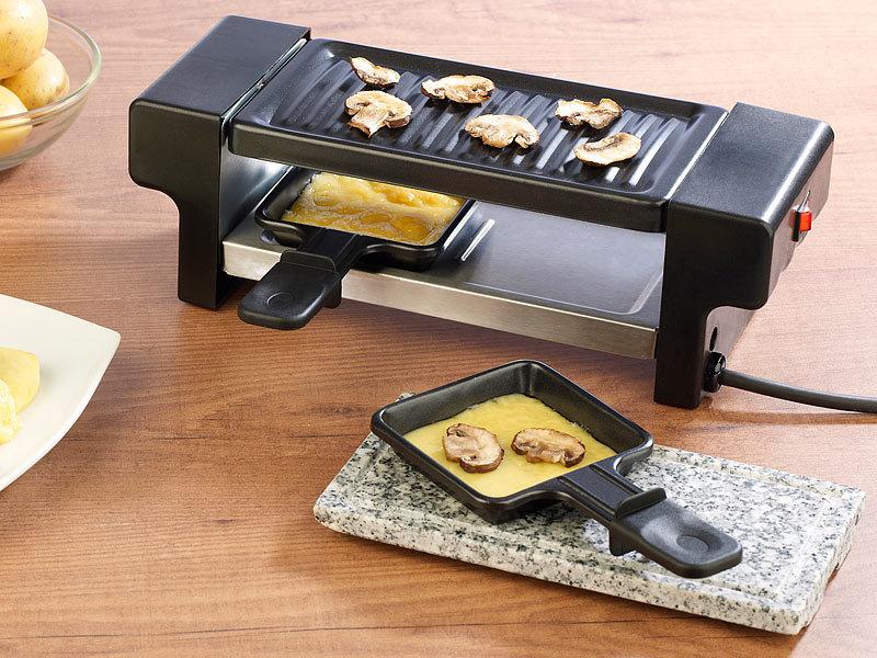 rosenstein s hne racletteofen raclette f r 2 mit grillaufsatz hei em stein 350 watt. Black Bedroom Furniture Sets. Home Design Ideas