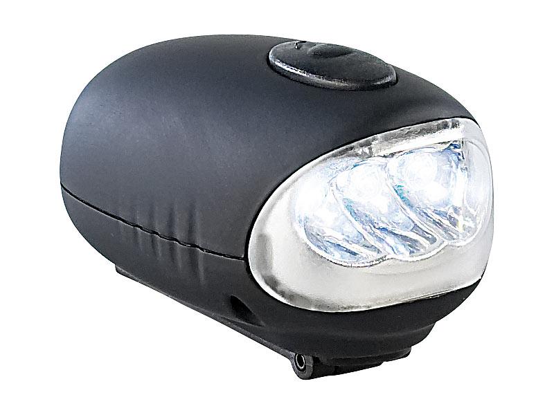 lunartec outdoor dynamo taschenlampe mit halterung 0 1 w 6 lm. Black Bedroom Furniture Sets. Home Design Ideas